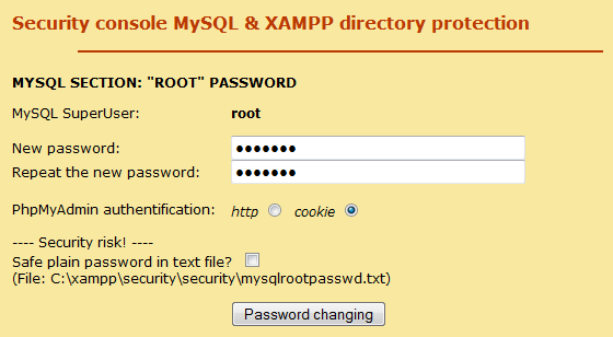 [Image: xampp-security-page.PNG]